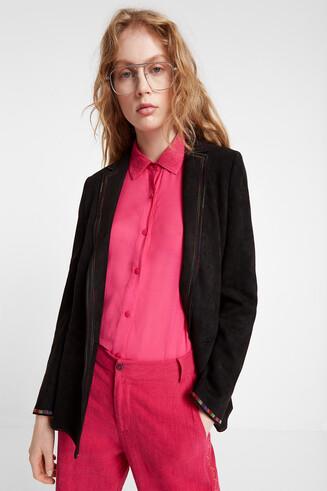 Black faux blazer