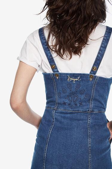 Denim pinafore mini dress   Desigual