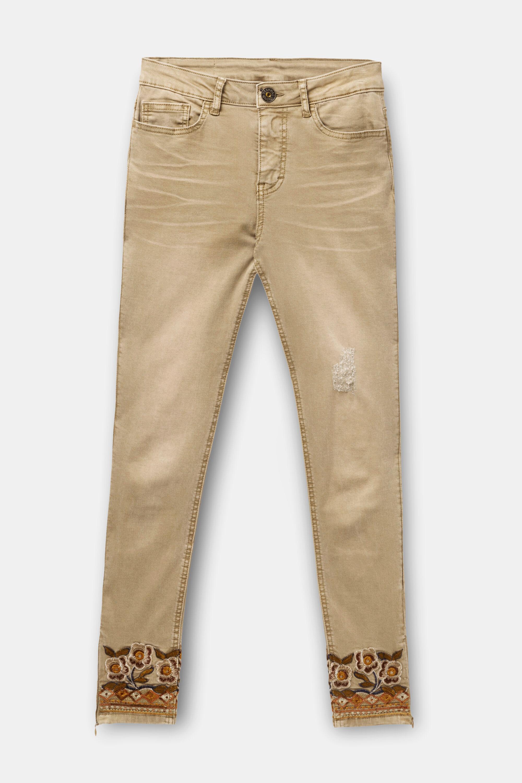 Desigual Womens Ethnic Ankle Denim Long Trouser