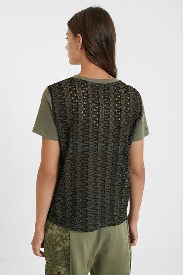 T-shirt résille ondulé | Desigual