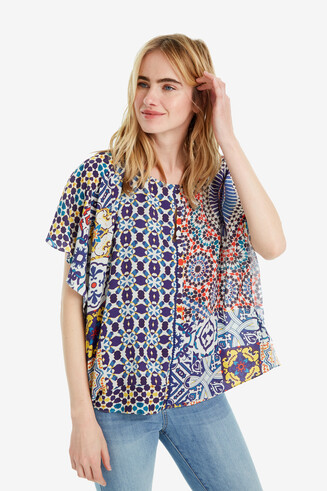 Blouse multicouches patchwork Agadir