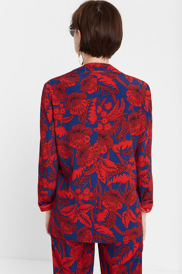 Blazer floral bordô | Desigual