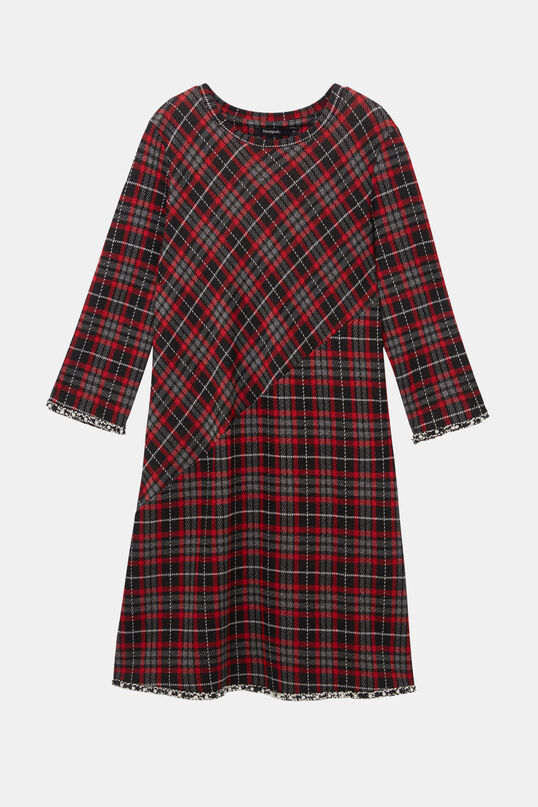Tartan dress pearls | Desigual
