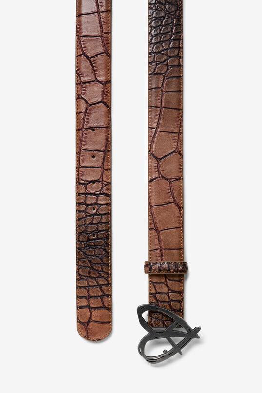 Reptile skin effect belt | Desigual