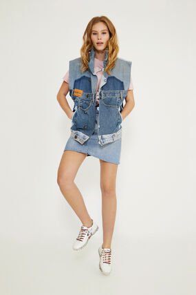 Mickey Mouse Icon denim vest - Blue