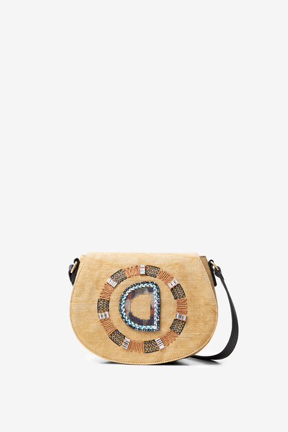 Reverse D logo embroidered sling bag