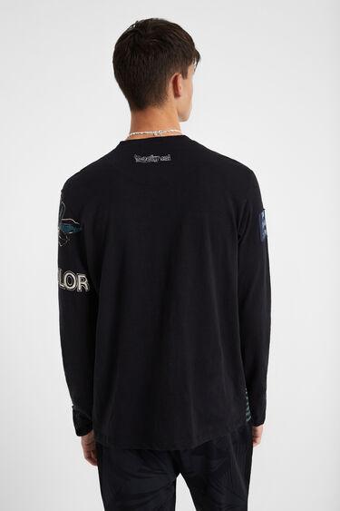 100% cotton patches T-shirt | Desigual