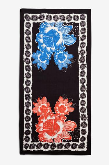 Foulard rectangulaire floral galactique | Desigual