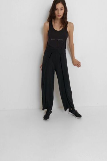 Cropped trousers openings   Desigual