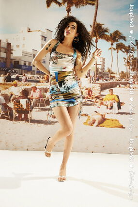 Fitted mini-dress South Beach