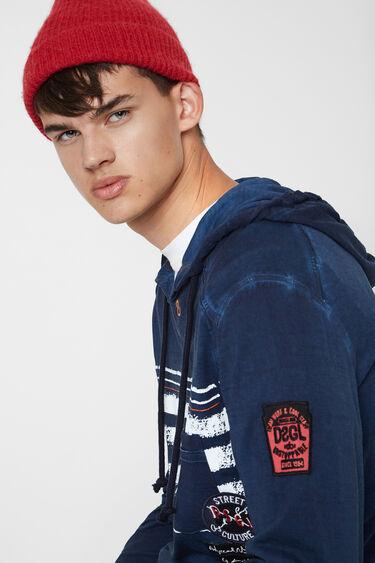 Long-sleeved hooded T-shirt | Desigual