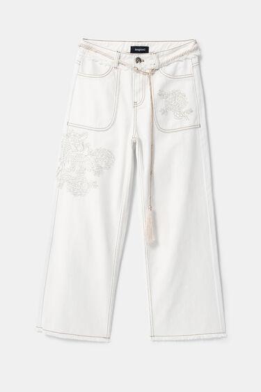 Pantalon en jean jupe-culotte | Desigual