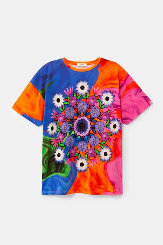 T-shirt unisexe psychédélique à mandala