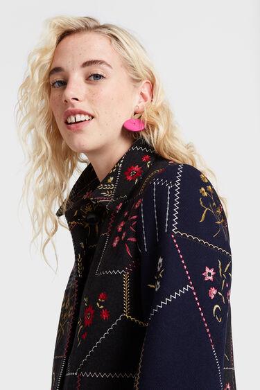 Manteau patch fleuri | Desigual