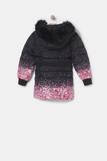 Long padded jacket glitter | Desigual