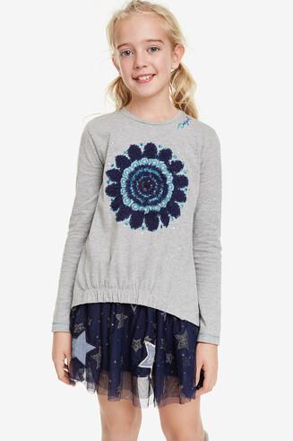 Shirt mit Mandalas und Volants