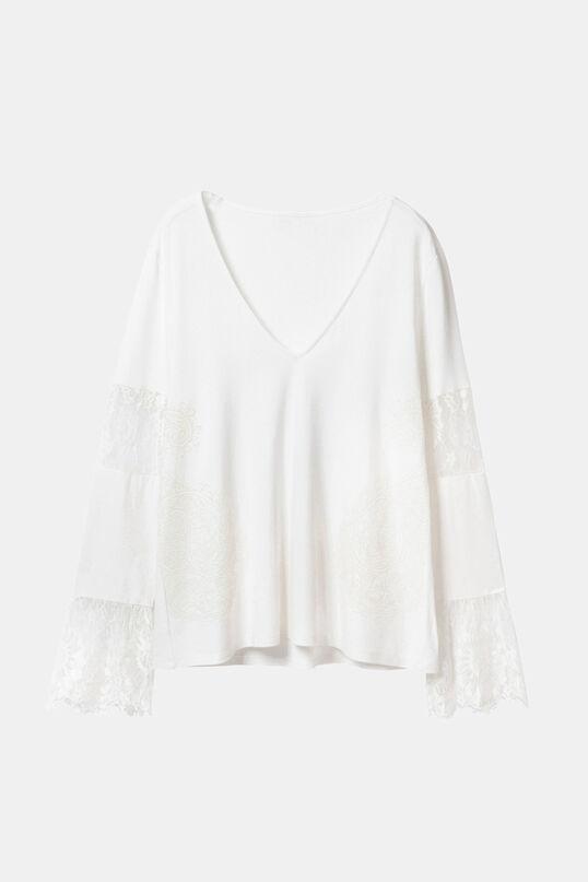 Basic T-shirt with lace | Desigual