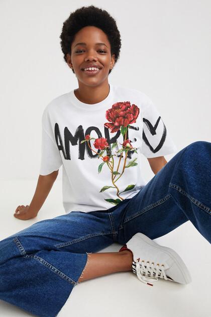 Shirt Blumen 100% Baumwolle