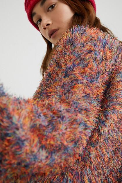 Fur effect jacket colours
