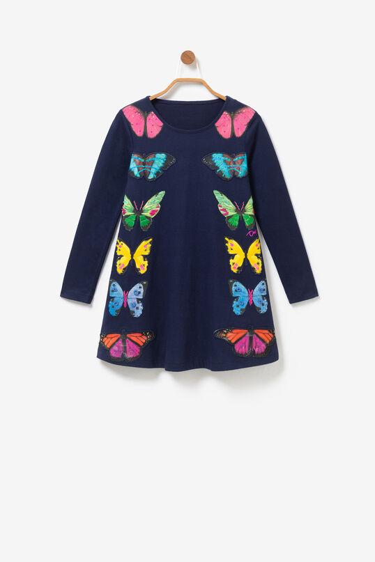 Wijd uitlopende jurk met grote vlinders | Desigual