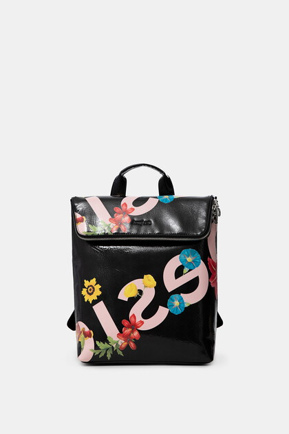 Square backpack flowers