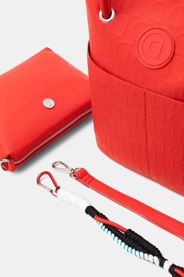 Red 2 in 1 bag in logomania | Desigual