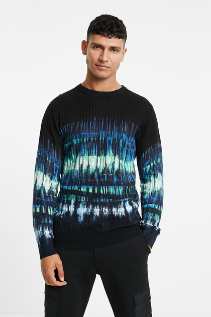 100% cotton jacquard jumper