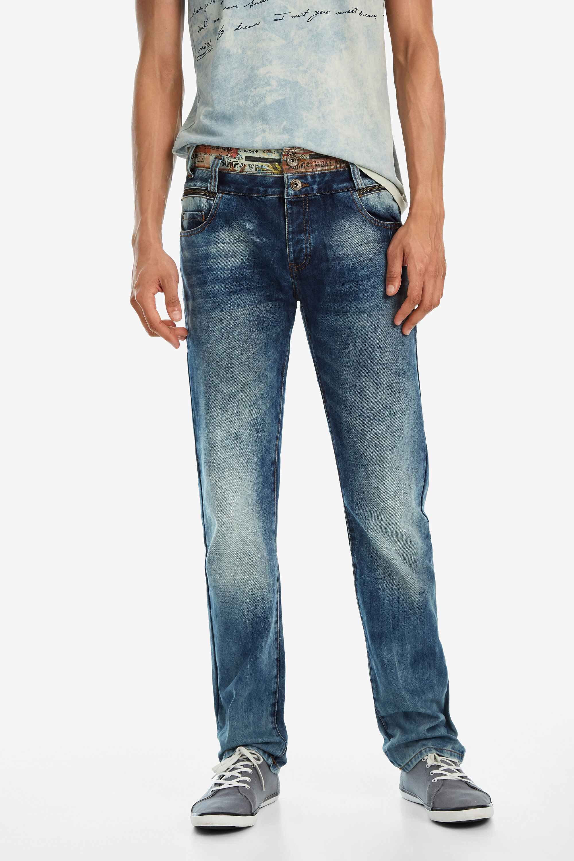 Regular denim trousers - BLUE - 38