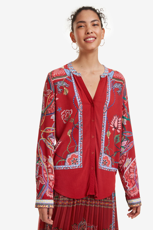 Chemise patch foulard - RED - XXL