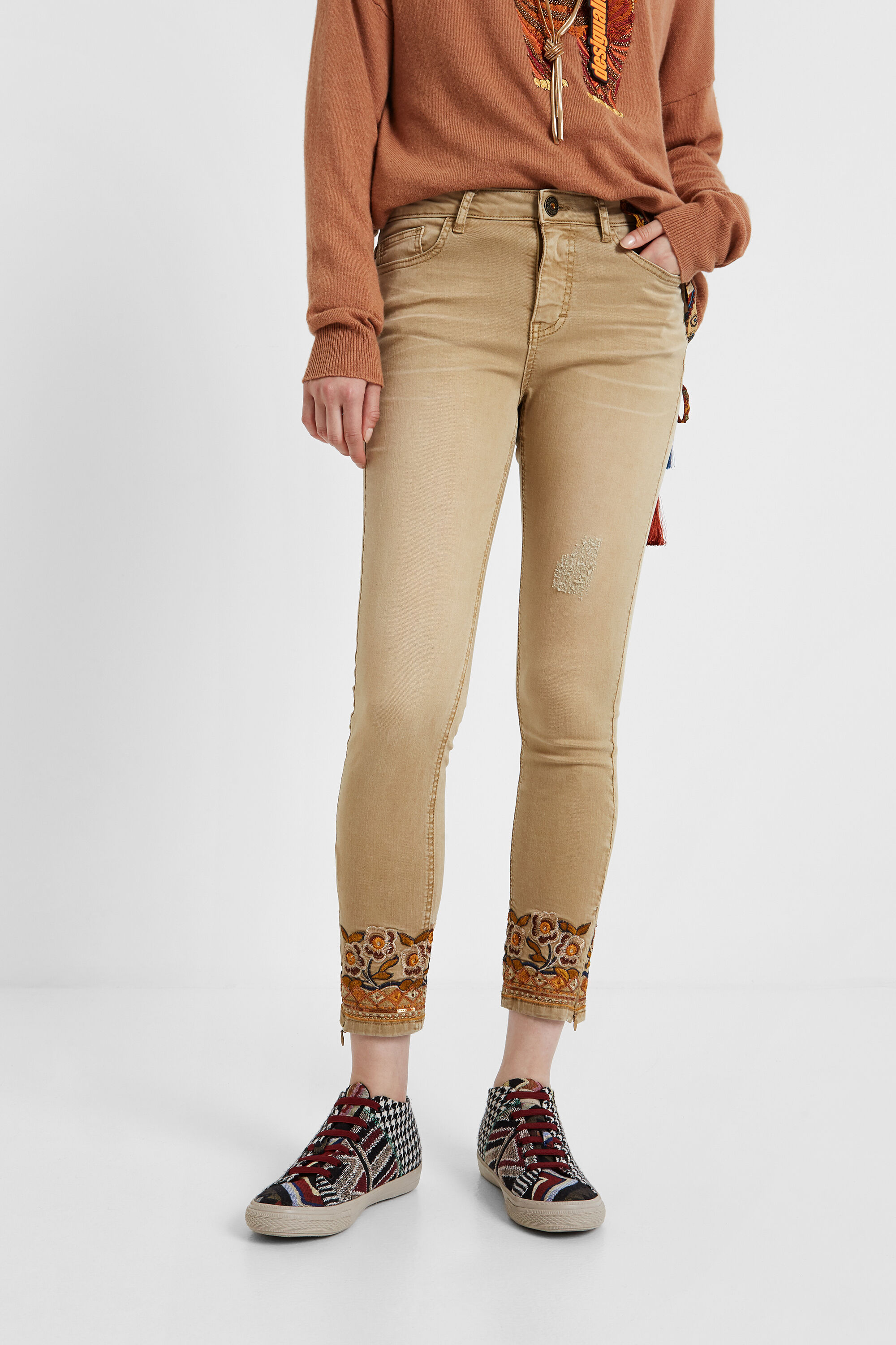 Skinny exotic jeans - WHITE - 36