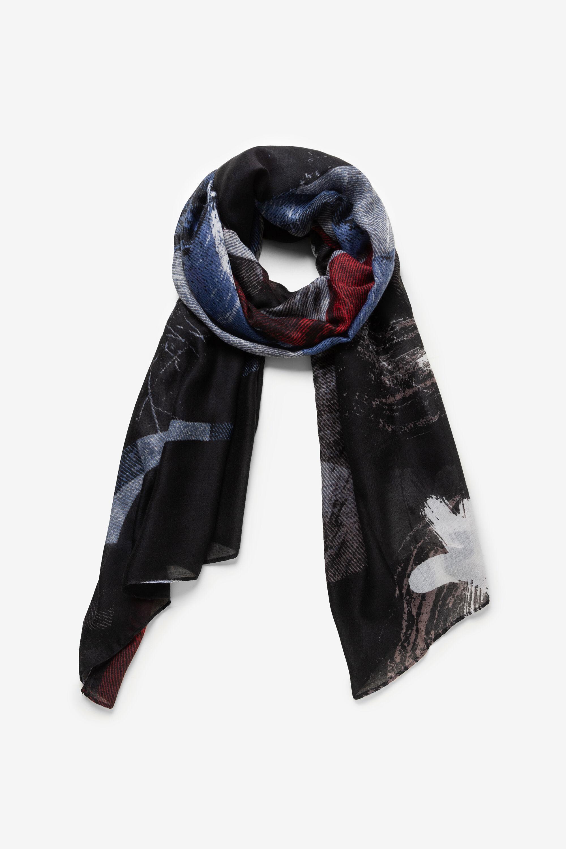 Foulard logomaniac étoiles - BLACK - U