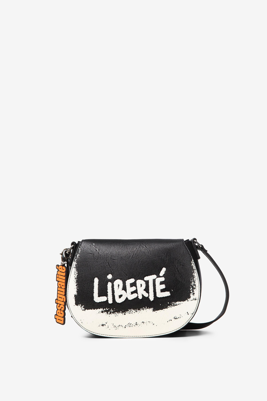 Halvemaanvormige schoudertas Liberté – BLACK – U