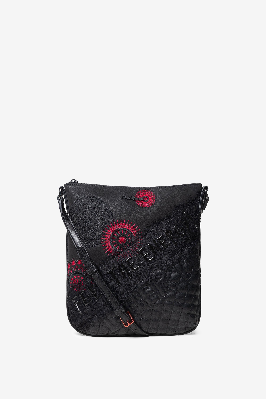 Handtaschen - Quadratische Patchwork Tasche BLACK U  - Onlineshop Desigual