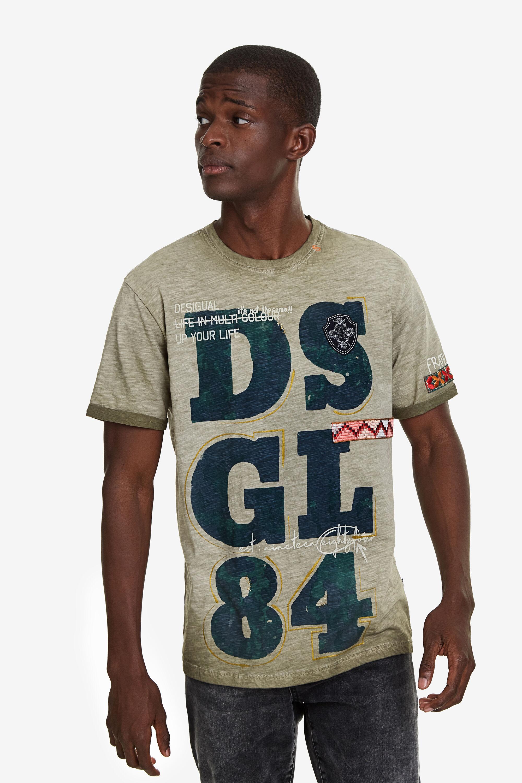 Image of 100% cotton DSGL84 T-shirt - GREEN - L