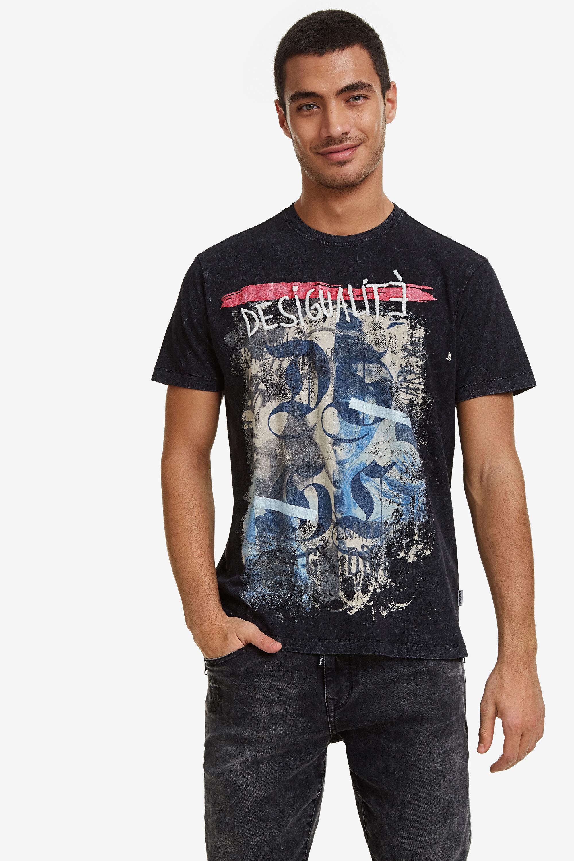Image of 100% cotton Desigualité T-shirt - BLACK - L