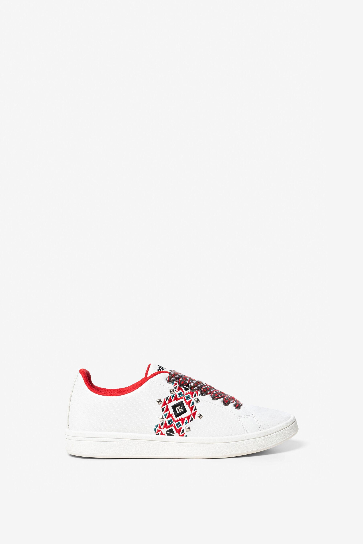 Sneaker Cosmic met Navajo-print en rode binnenkant – WHITE – 39
