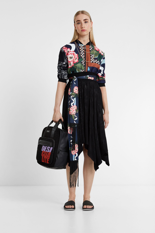 Jupe foulard ceinture - BLACK - M