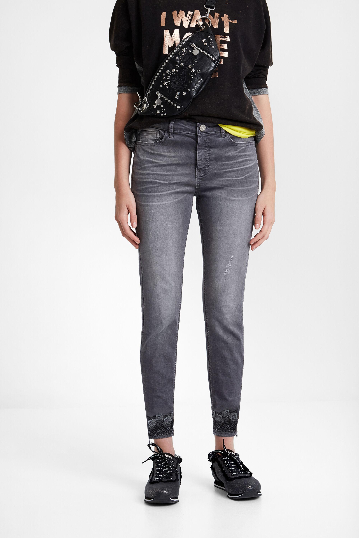 Boho-jeans – BLACK – 44
