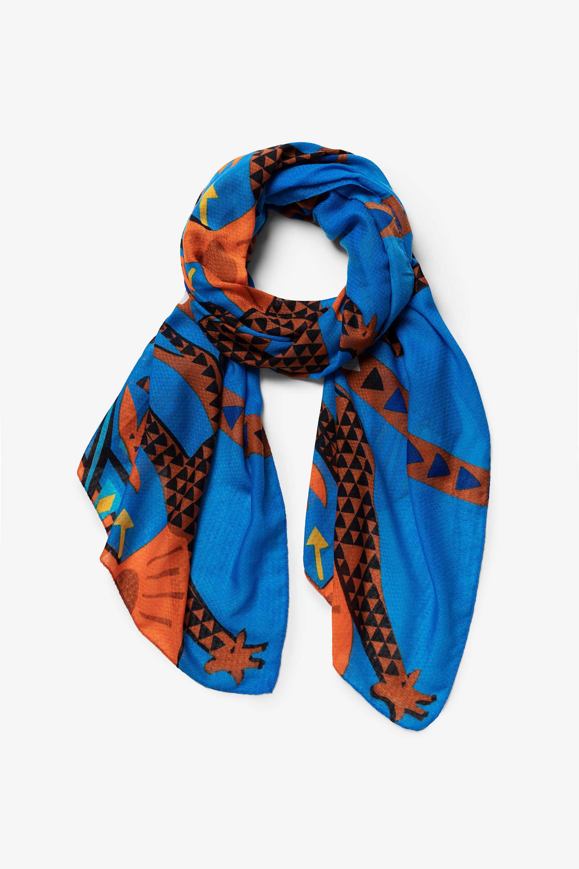 Foulard ethnique girafes - BLUE - U