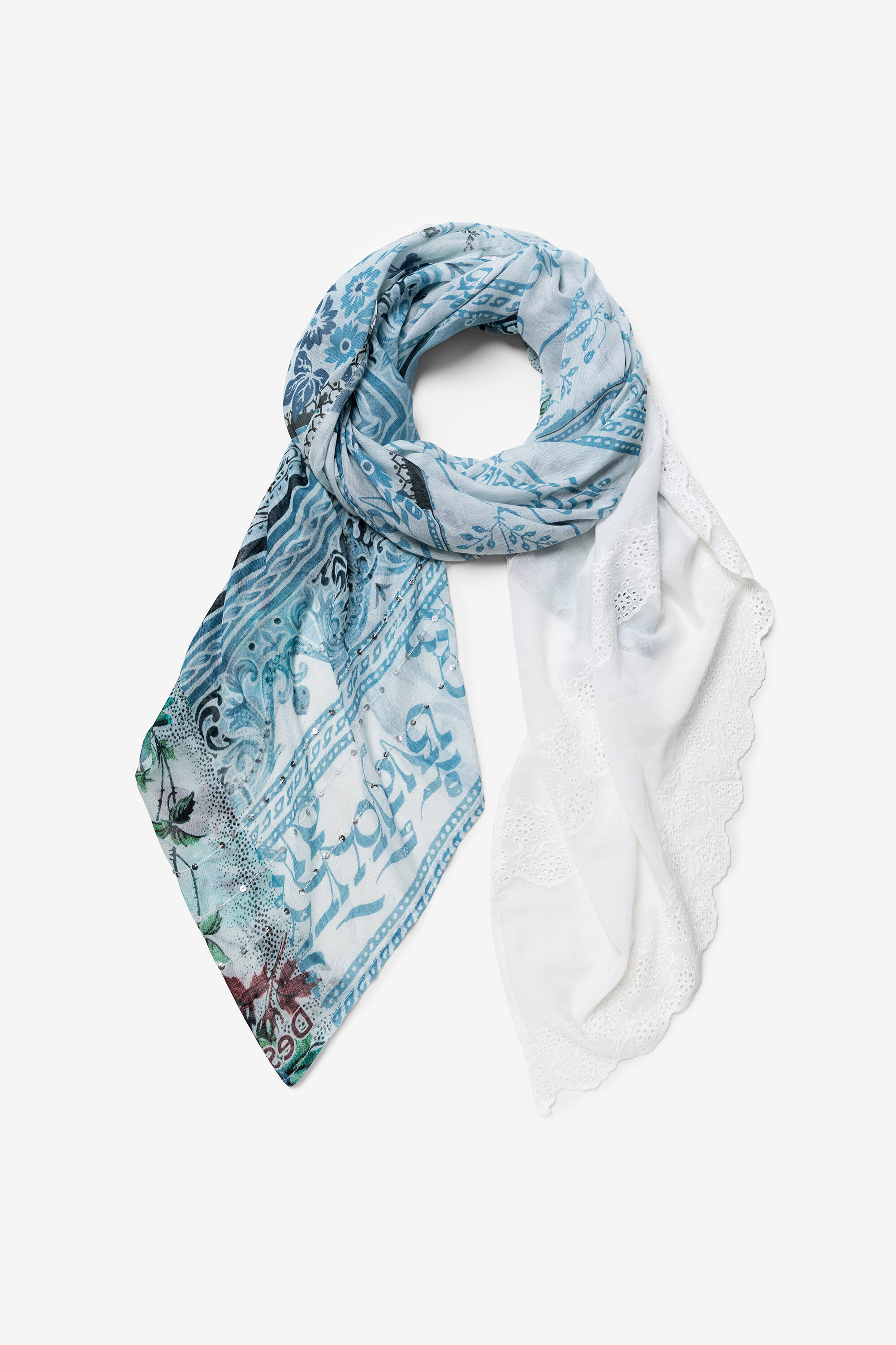 Foulard inspiration hindoue - BLACK - U