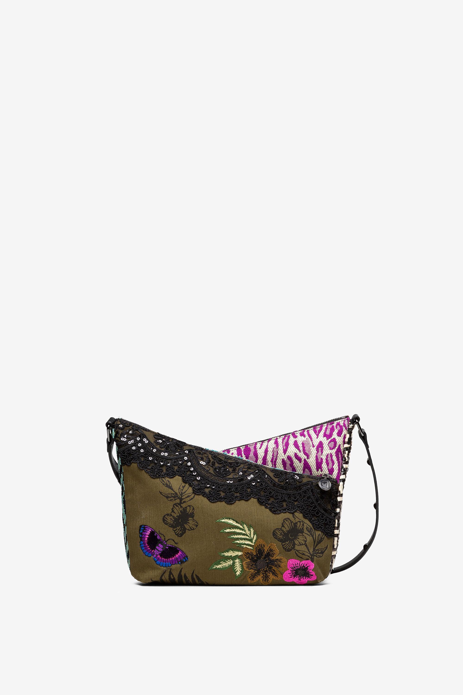 Mini sac patchwork de tissus et textures - BLACK - U