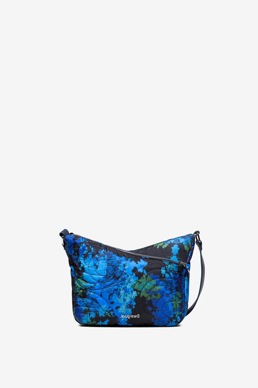 Bandoulière matelassée à camouflage fleuri - BLUE - U