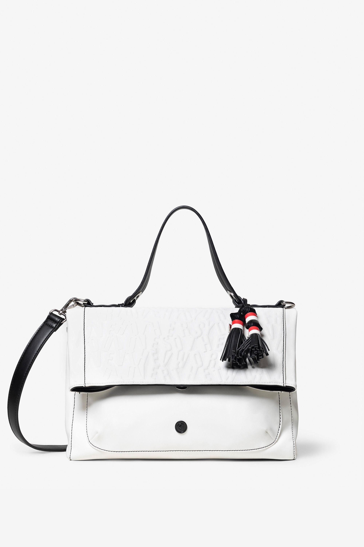 Handtaschen - Quadratische weiße Tasche in Lederoptik WHITE U  - Onlineshop Desigual