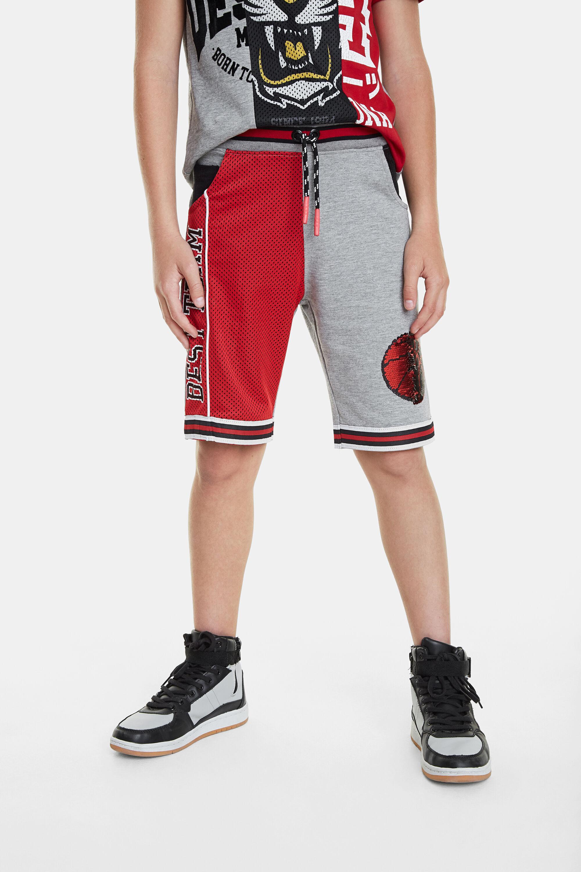Bermuda patch deportiva baloncesto - RED - 13/14