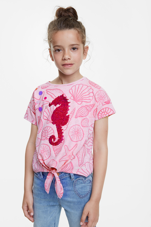 Camiseta fondo marino y lentejuelas - RED - 13/14