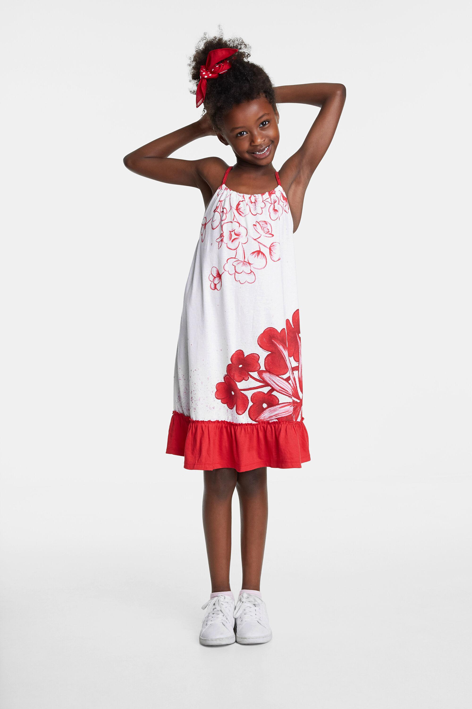 Mexicaans geïnspireerde jurk – WHITE – 7/8