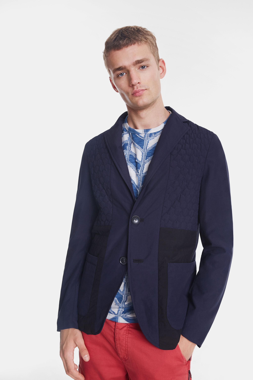 Casual padded blazer - BLUE - 50