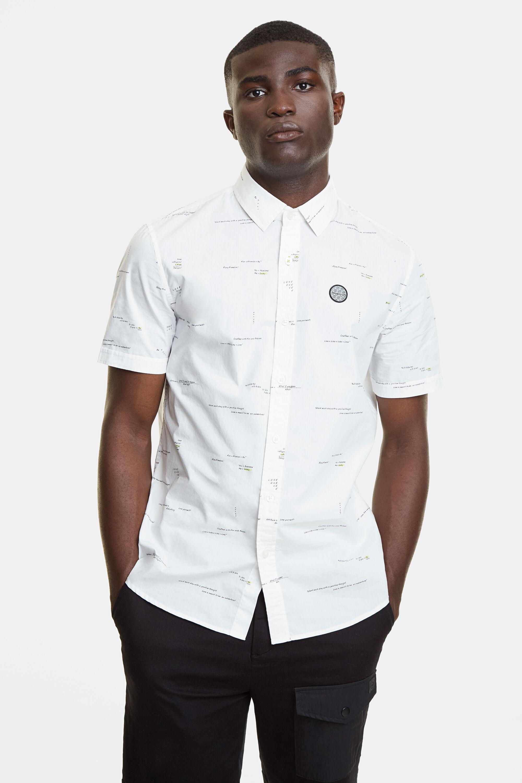 Shirt met teksten – WHITE – XXL