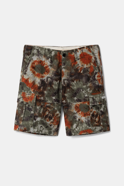Tie-dye cargo trousers - ORANGE - 34
