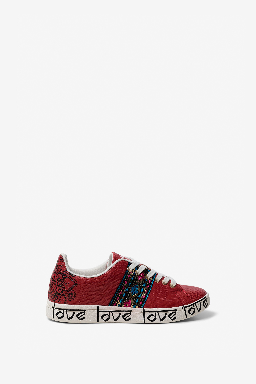 Sneakers in hindoe-stijl LOVE – RED – 38